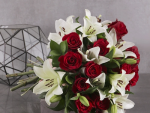 lilies and roses bouquet - dorothys florist